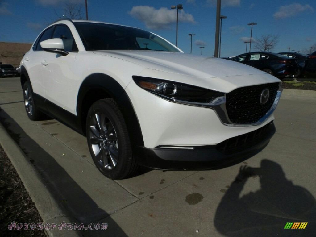 Snowflake White Pearl Mica / Black Mazda CX-30 Premium AWD