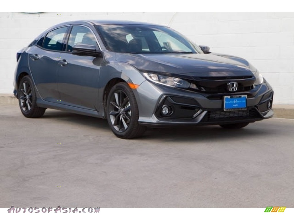 2020 Civic EX-L Hatchback - Polished Metal Metallic / Black photo #1