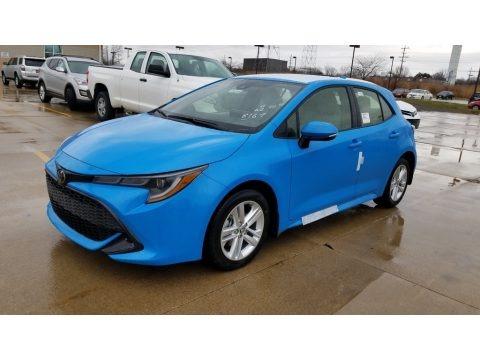 Blue Flame 2020 Toyota Corolla Hatchback SE