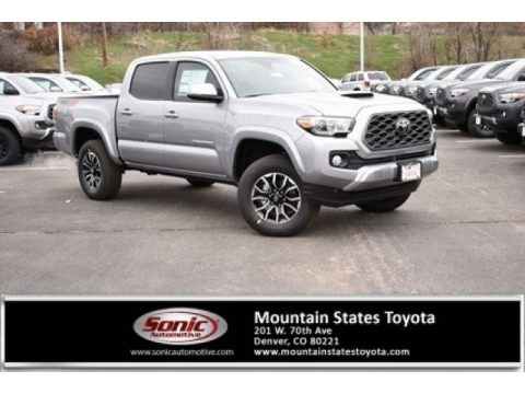 Silver Sky Metallic 2020 Toyota Tacoma TRD Sport Double Cab 4x4
