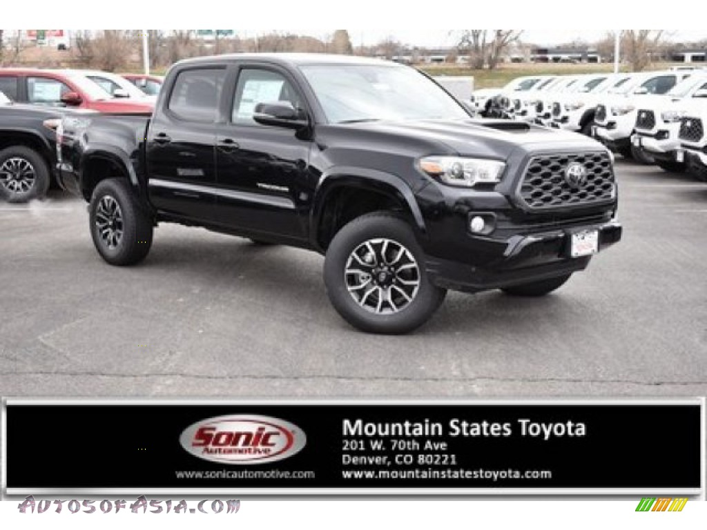 2020 Toyota Tacoma Trd Sport Double Cab 4x4 In Midnight Black Metallic 232934 Autos Of Asia Japanese And Korean Cars For Sale In The Us