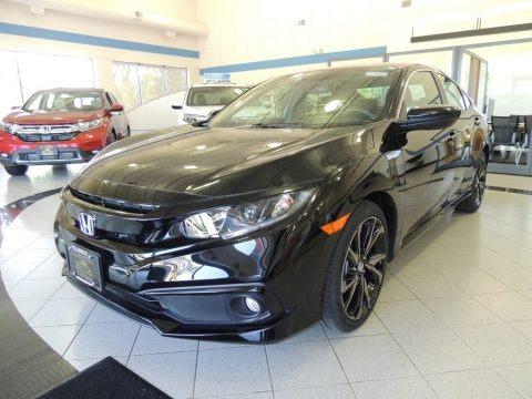 Crystal Black Pearl 2020 Honda Civic Sport Sedan
