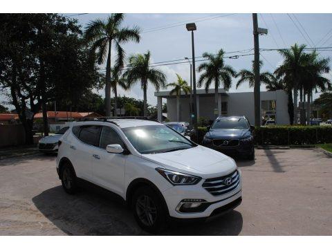 Pearl White 2018 Hyundai Santa Fe Sport