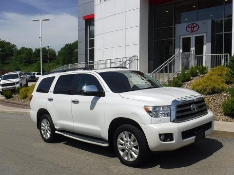 Blizzard White Pearl 2013 Toyota Sequoia Platinum 4WD