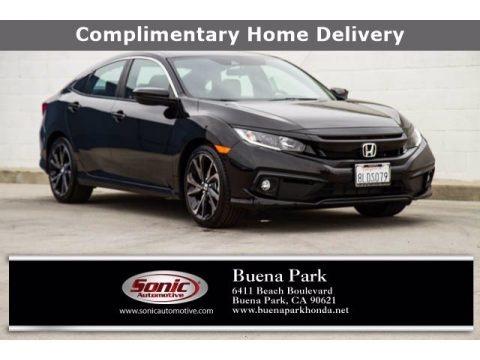 Crystal Black Pearl 2019 Honda Civic Sport Sedan