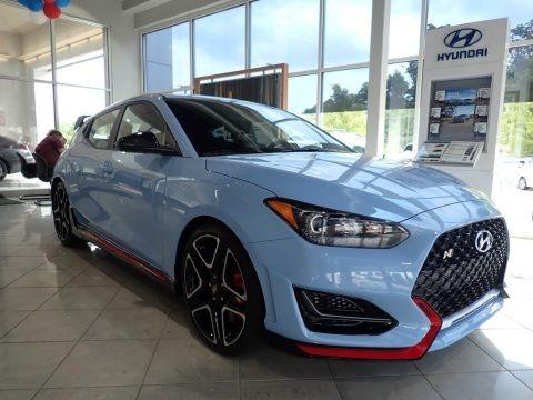 Performance Blue 2020 Hyundai Veloster N