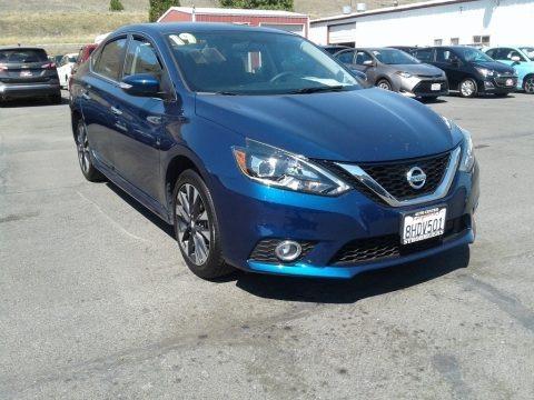 Deep Blue Pearl 2019 Nissan Sentra SR