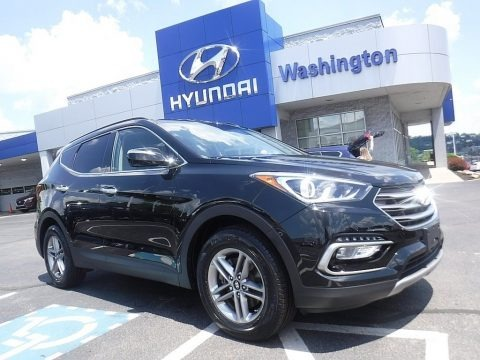 Twilight Black 2017 Hyundai Santa Fe Sport AWD