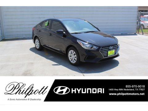 Absolute Black 2020 Hyundai Accent SE
