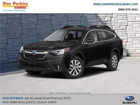 Crystal Black Silica 2020 Subaru Outback 2.5i Premium