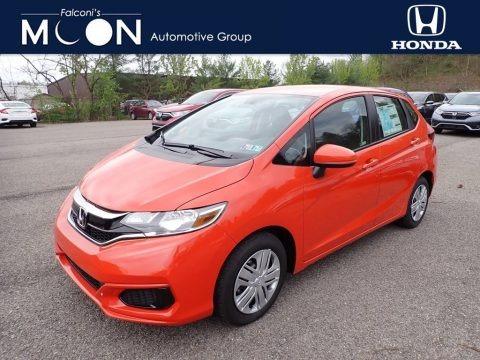 Orange Fury 2020 Honda Fit LX