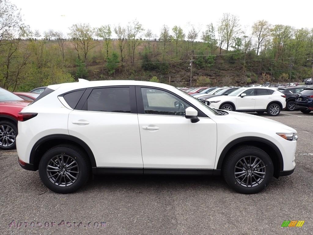 2020 CX-5 Touring AWD - Snowflake White Pearl / Black photo #1