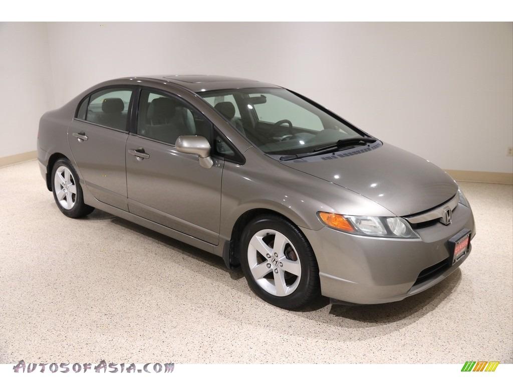 2007 Civic EX Sedan - Galaxy Gray Metallic / Gray photo #1