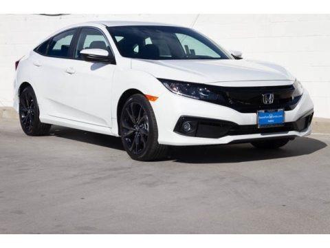 Platinum White Pearl 2020 Honda Civic Sport Sedan