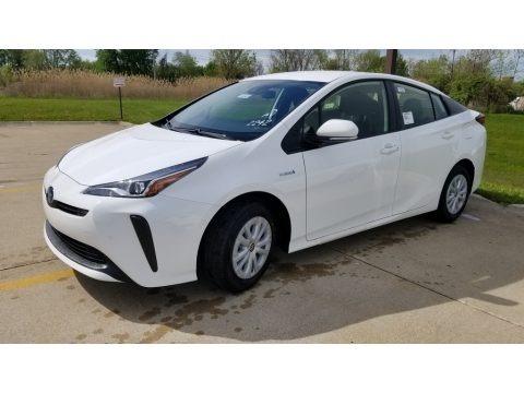 Super White 2020 Toyota Prius LE