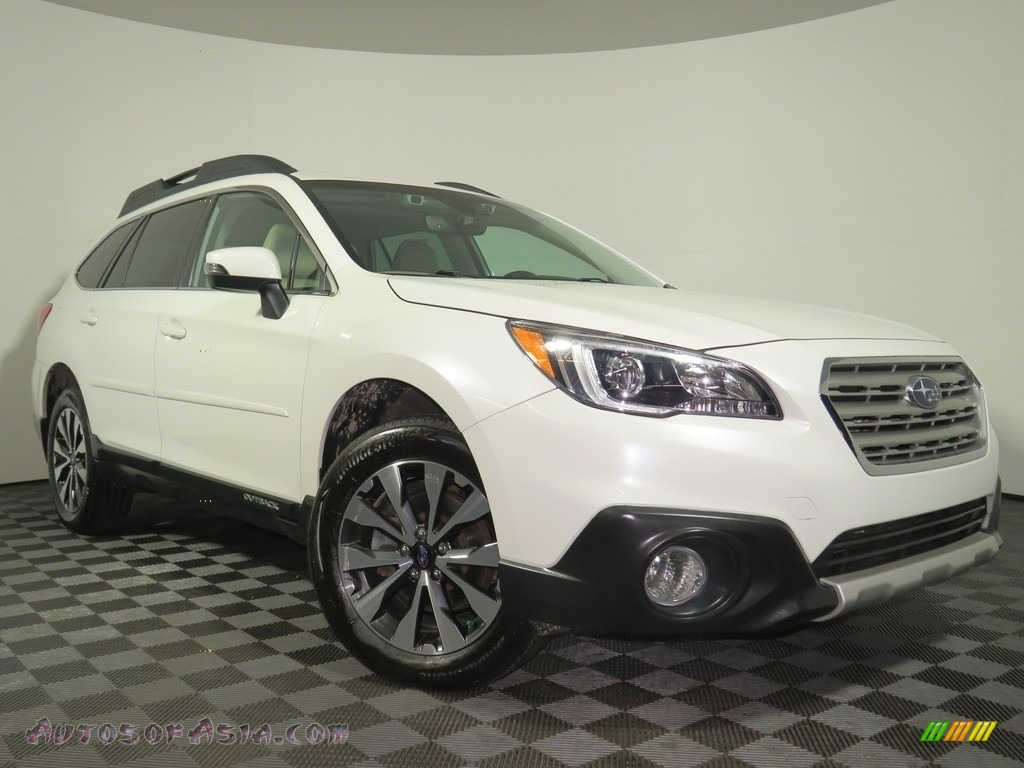 2017 Outback 2.5i Limited - Crystal White Pearl / Warm Ivory photo #1