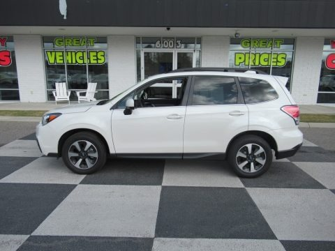 Crystal White Pearl 2017 Subaru Forester 2.5i Limited