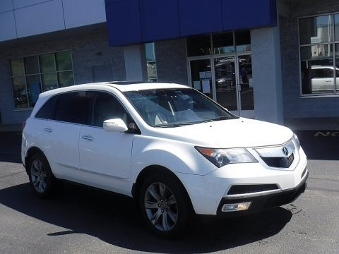 Aspen White Pearl 2011 Acura MDX Advance