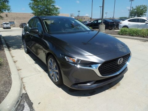 Machine Gray Metallic 2020 Mazda MAZDA3 Select Sedan
