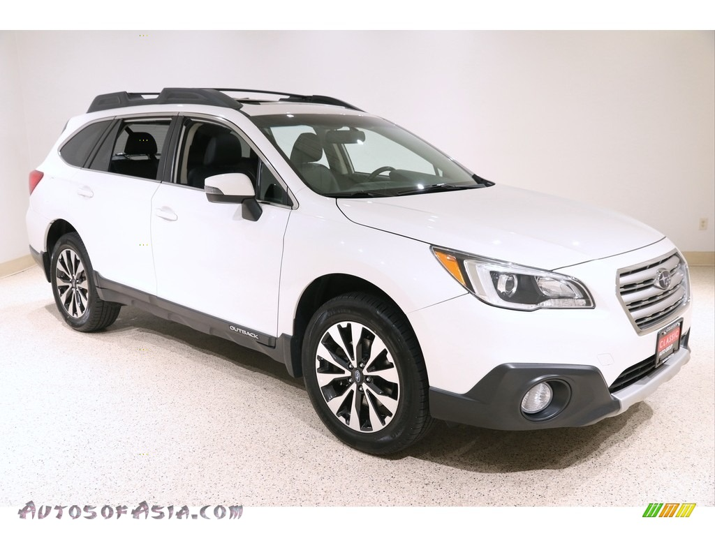 2017 Outback 2.5i Limited - Crystal White Pearl / Slate Black photo #1