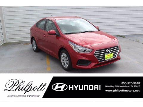 Pomegranate Red 2020 Hyundai Accent SE