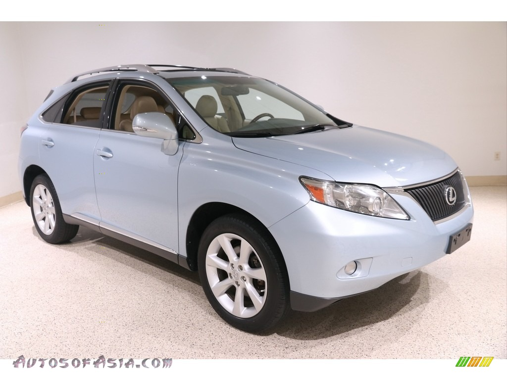 2010 RX 350 AWD - Cerulean Blue Metallic / Parchment/Brown Walnut photo #1