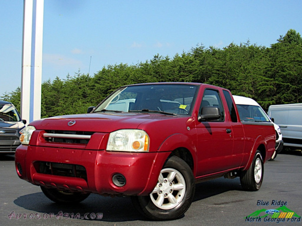 2004 Frontier XE King Cab - Red Brawn Metallic / Gray photo #1