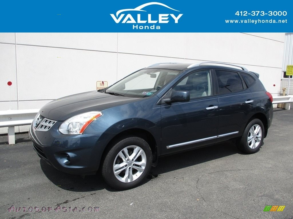 2012 Rogue SV AWD - Graphite Blue / Gray photo #1