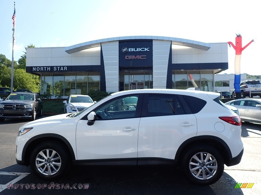 2015 CX-5 Touring AWD - Crystal White Pearl Mica / Sand photo #1