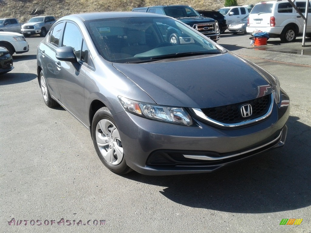 2013 Civic LX Sedan - Polished Metal Metallic / Gray photo #1