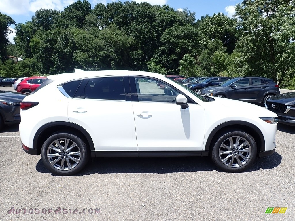 2020 CX-5 Grand Touring AWD - Snowflake White Pearl / Parchment photo #1
