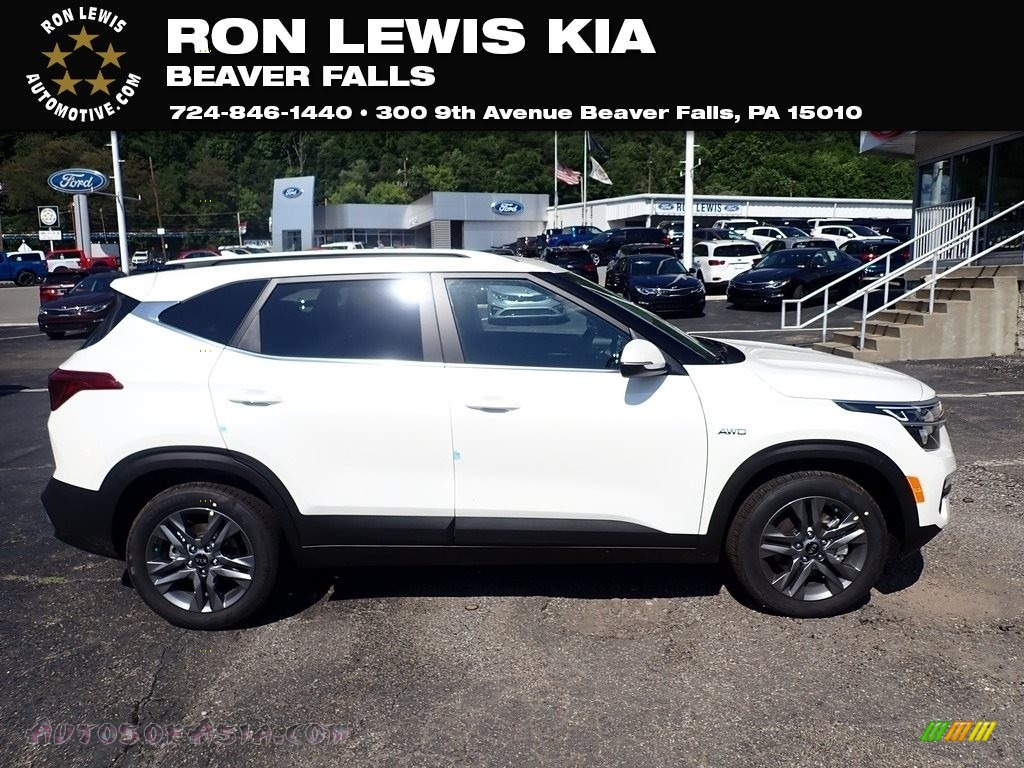 2021 Seltos S AWD - Clear White / Black photo #1