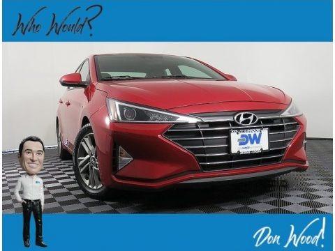 Scarlet Red 2019 Hyundai Elantra SEL