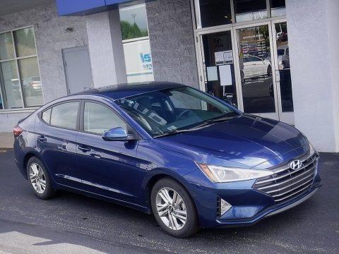 Lakeside Blue 2019 Hyundai Elantra SEL