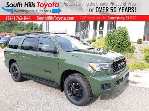Army Green 2020 Toyota Sequoia TRD Pro 4x4