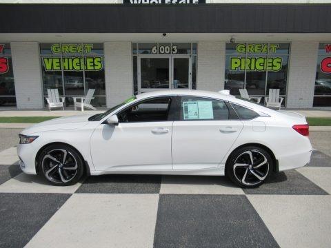 Platinum White Pearl 2019 Honda Accord Sport Sedan