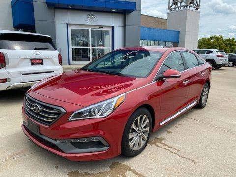 Scarlet Red 2017 Hyundai Sonata Sport