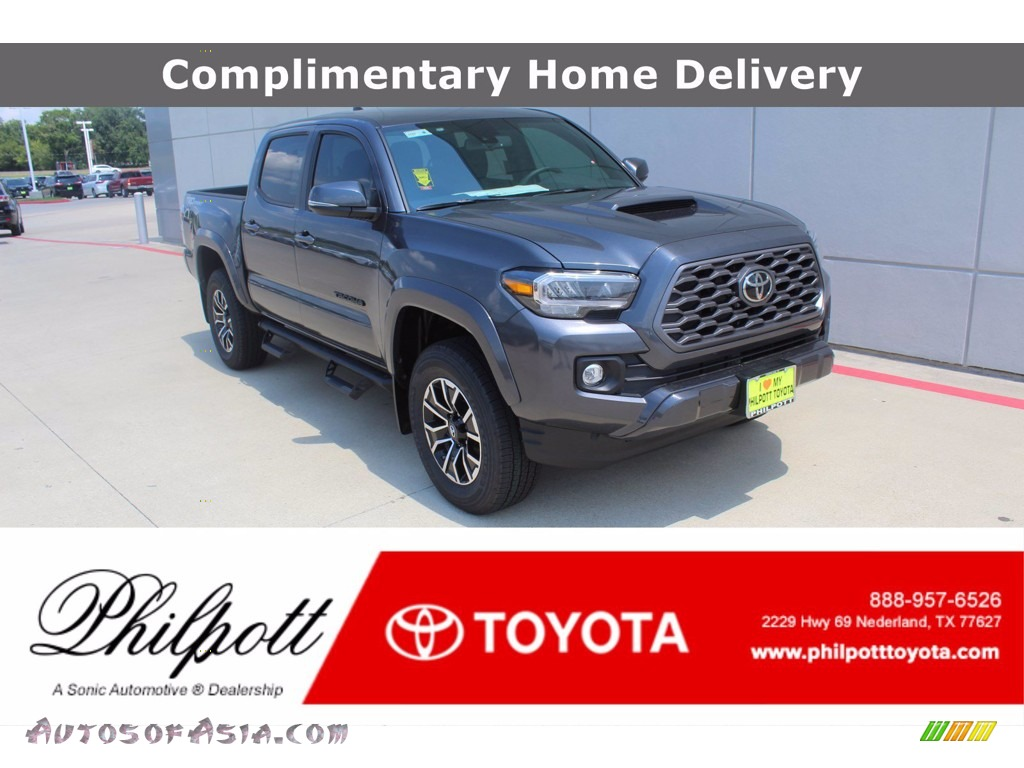 2020 Tacoma TRD Sport Double Cab - Magnetic Gray Metallic / TRD Cement/Black photo #1