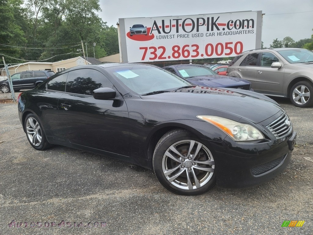 2008 G 37 S Sport Coupe - Black Obsidian / Graphite photo #1