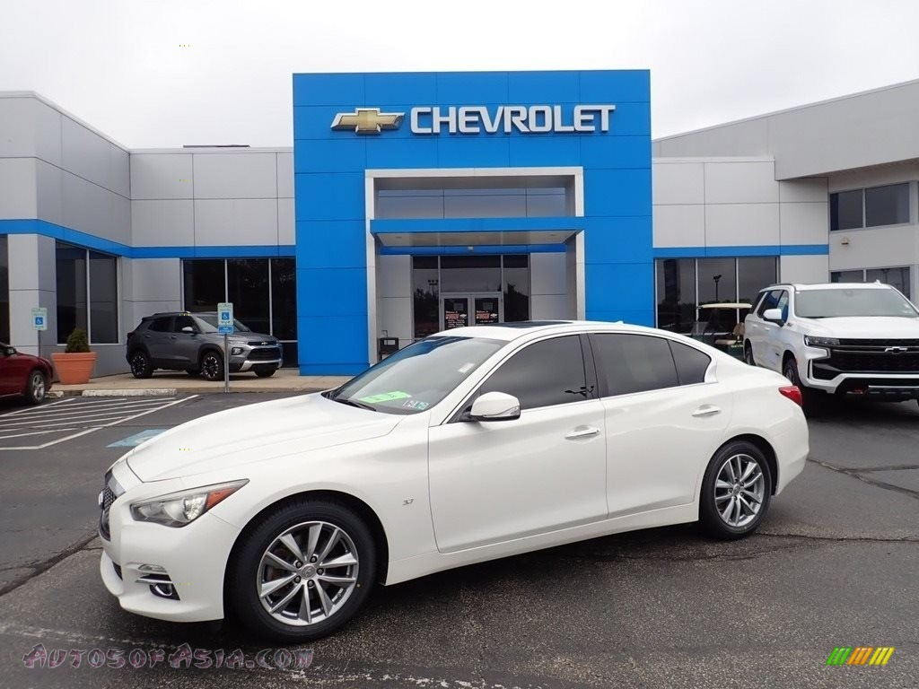 2014 Q 50 3.7 AWD Premium - Moonlight White / Graphite photo #1