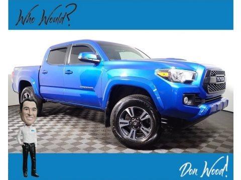 Blazing Blue Pearl 2017 Toyota Tacoma TRD Sport Double Cab 4x4