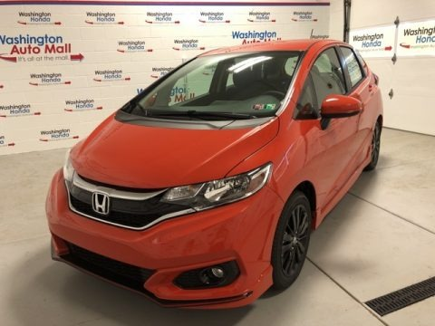Orange Fury 2020 Honda Fit Sport