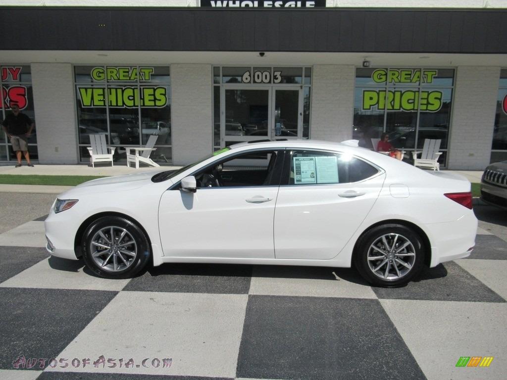 2020 TLX Sedan - Platinum White Pearl / Parchment photo #1