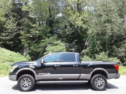 Magnetic Black 2017 Nissan TITAN XD Platinum Reserve Crew Cab 4x4
