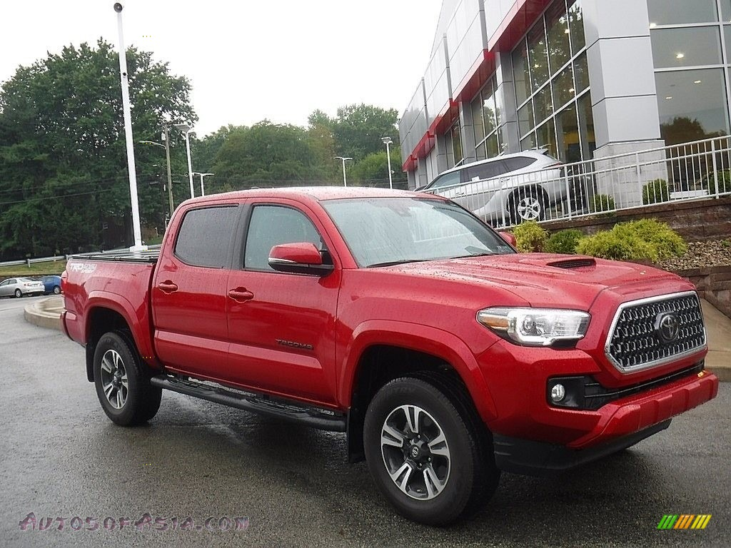 2019 Tacoma TRD Sport Double Cab 4x4 - Barcelona Red Metallic / Black photo #1