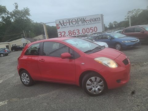 Absolutely Red 2008 Toyota Yaris S 3 Door Liftback
