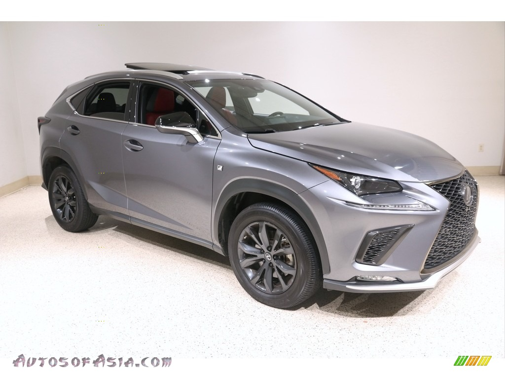 2020 NX 300 F Sport AWD - Nebula Gray Pearl / Circuit Red photo #1