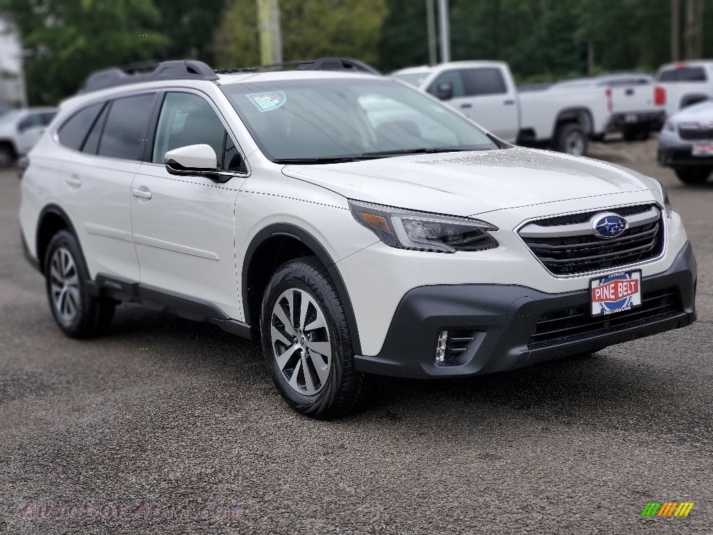 2020 Outback 2.5i Premium - Crystal White Pearl / Slate Black photo #1