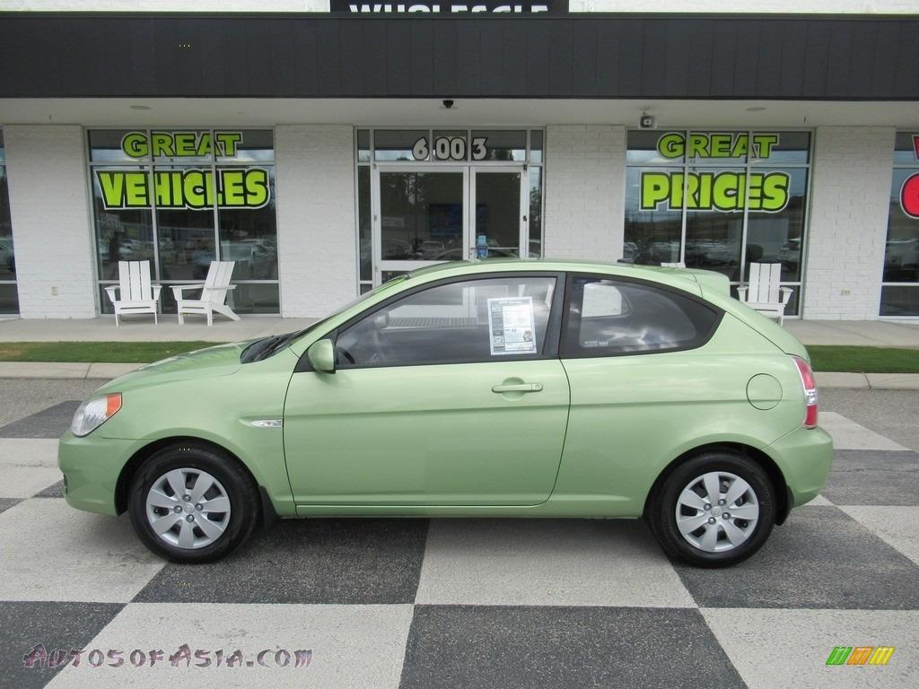 2011 Accent GS 3 Door - Apple Green Metallic / Black photo #1