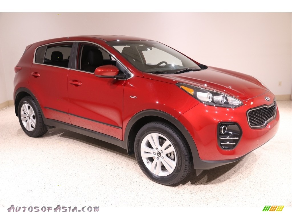 2017 Sportage LX AWD - Hyper Red / Black photo #1